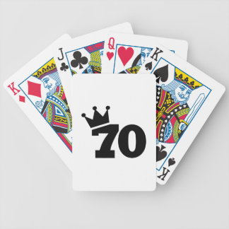 Crown 70th birthday bicycle playing cards
