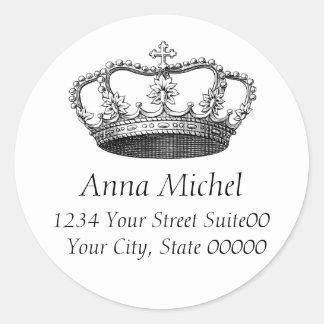 Crown Address Sticker