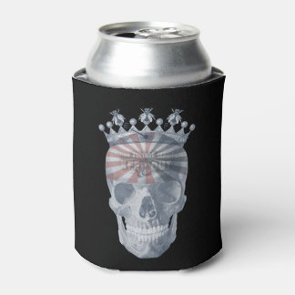 Crown Anchor Bees High Voltage Keep Out Skull Can Cooler