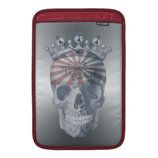 Crown Anchor Bees High Voltage Keep Out Skull MacBook Air Sleeve