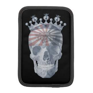 Crown Anchor Bees High Voltage Keep Out Skull Sleeve For iPad Mini