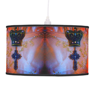 Crown and Cross hanging lamp