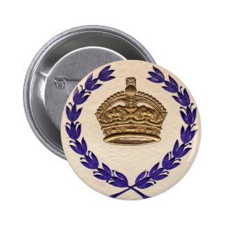 crown and garland 2 inch round button