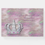 Hand shaped Crown and Satin Quinceañera Guest Book