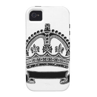 Crown and Scroll Symbol iPhone 4/4S Covers