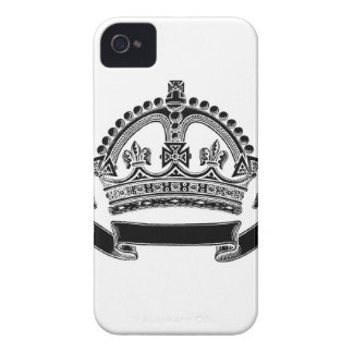 Crown and Scroll Symbol iPhone 4 Case-Mate Cases