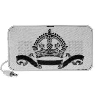 Crown and Scroll Symbol Mini Speakers