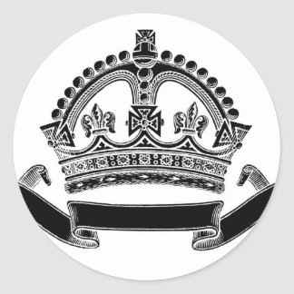 Crown and Scroll Symbol Stickers