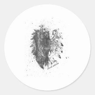 Crown-Atheist-Bird Classic Round Sticker