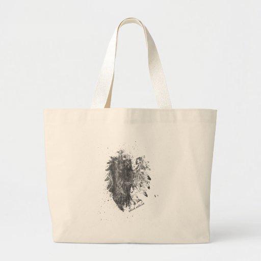 Crown-Atheist-Bird Jumbo Tote Bag