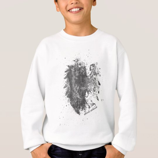 Crown-Atheist-Bird Sweatshirt