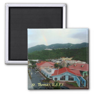 Crown Bay St. Thomas, USVI 2 Inch Square Magnet