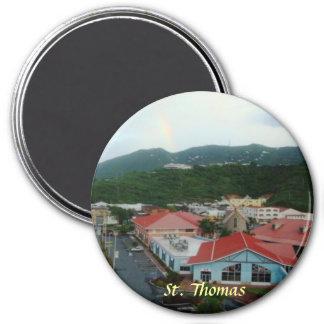 Crown Bay St. Thomas, USVI 3 Inch Round Magnet