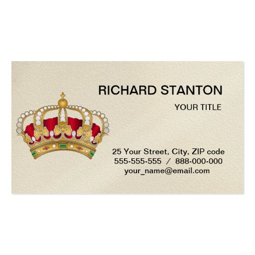 Crown business card zazzle for Crown business cards