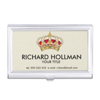 Princess crown business card holders cases zazzle for Crown business cards