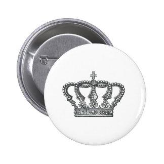 Crown 2 Inch Round Button