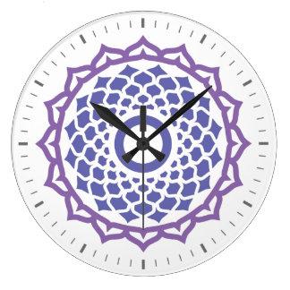 Crown Chakra Energy Wall Clock