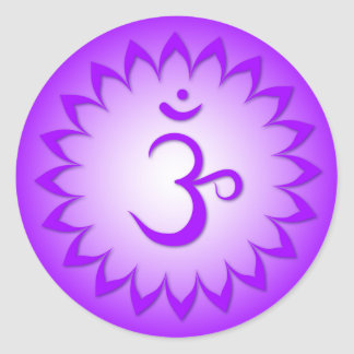 Crown Chakra - Sahasrara Round Sticker