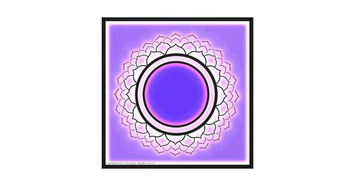 Crown Chakra Symbol Canvas Print Zazzle