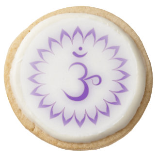 Crown Chakra Symbol Round Shortbread Cookie