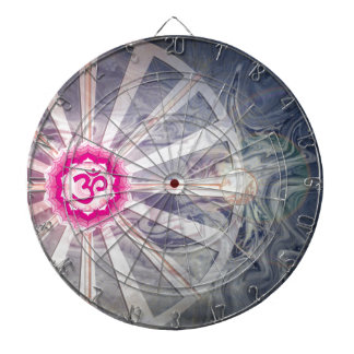 Crown Chakra With Abstract Watercolor Dartboard