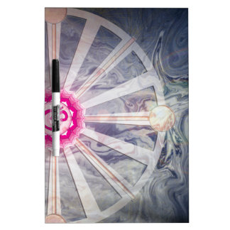 Crown Chakra With Abstract Watercolor Dry Erase Board