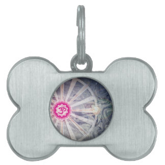 Crown Chakra With Abstract Watercolor Pet Tag