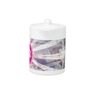 Crown Chakra With Abstract Watercolor Teapot