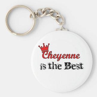 Crown Cheyenne Basic Round Button Keychain