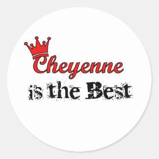 Crown Cheyenne Classic Round Sticker