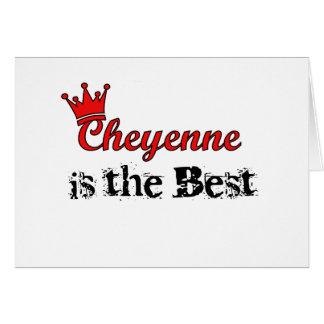Crown Cheyenne Greeting Card