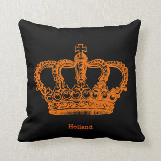 Crown * choose background color throw pillow