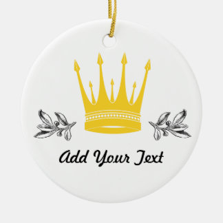 Crown Christmas Tree Ornaments