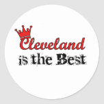 Crown Cleveland Round Sticker