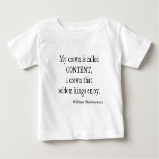 Crown Content Seldom Kings Enjoy Shakespeare Quote Baby T-Shirt