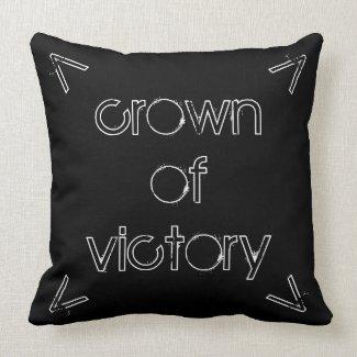 'Crown' Cotton Throw Pillow