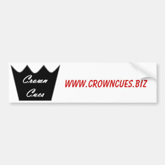 Crown Cues Bumper Sticker