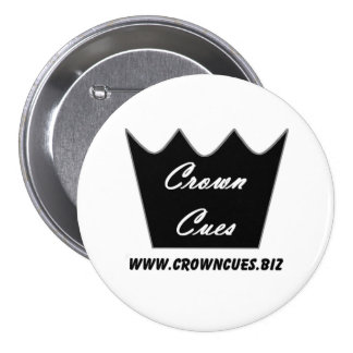 Crown Cues Pride Button