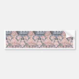 Crown Damask  ~ La Dauphine  ~ Gilt and Silver Bumper Sticker