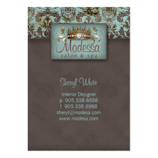 Crown Damask Salon Spa Appointment Card