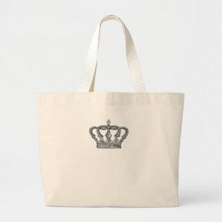 Crown de rey bolsa tela grande