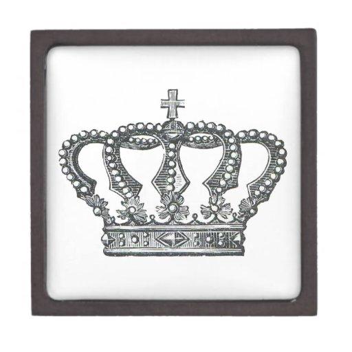 Crown de rey caja de recuerdo de calidad