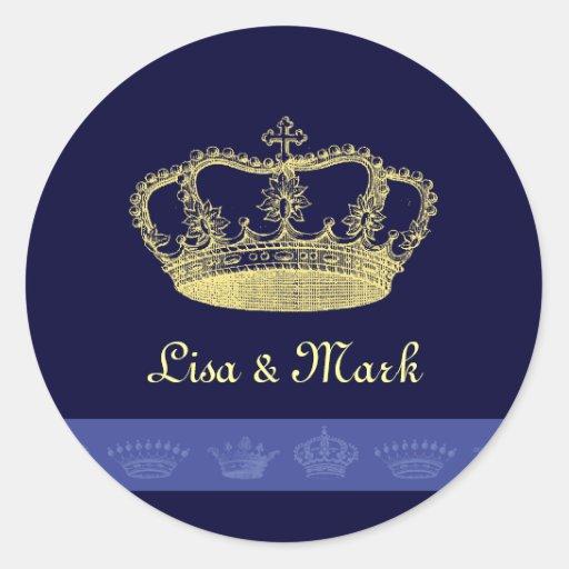 Crown Designs - Blue Sticker