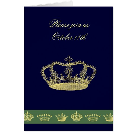 Crown Designs - Olive Green Card
