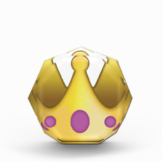Crown emoji acrylic award
