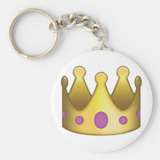 Crown emoji keychain