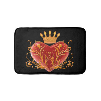 Crown Filigree Heart Bath Mat