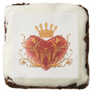 Crown Filigree Heart Brownies