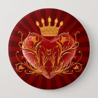 Crown Filigree Heart Button