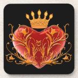 Crown Filigree Heart Coasters